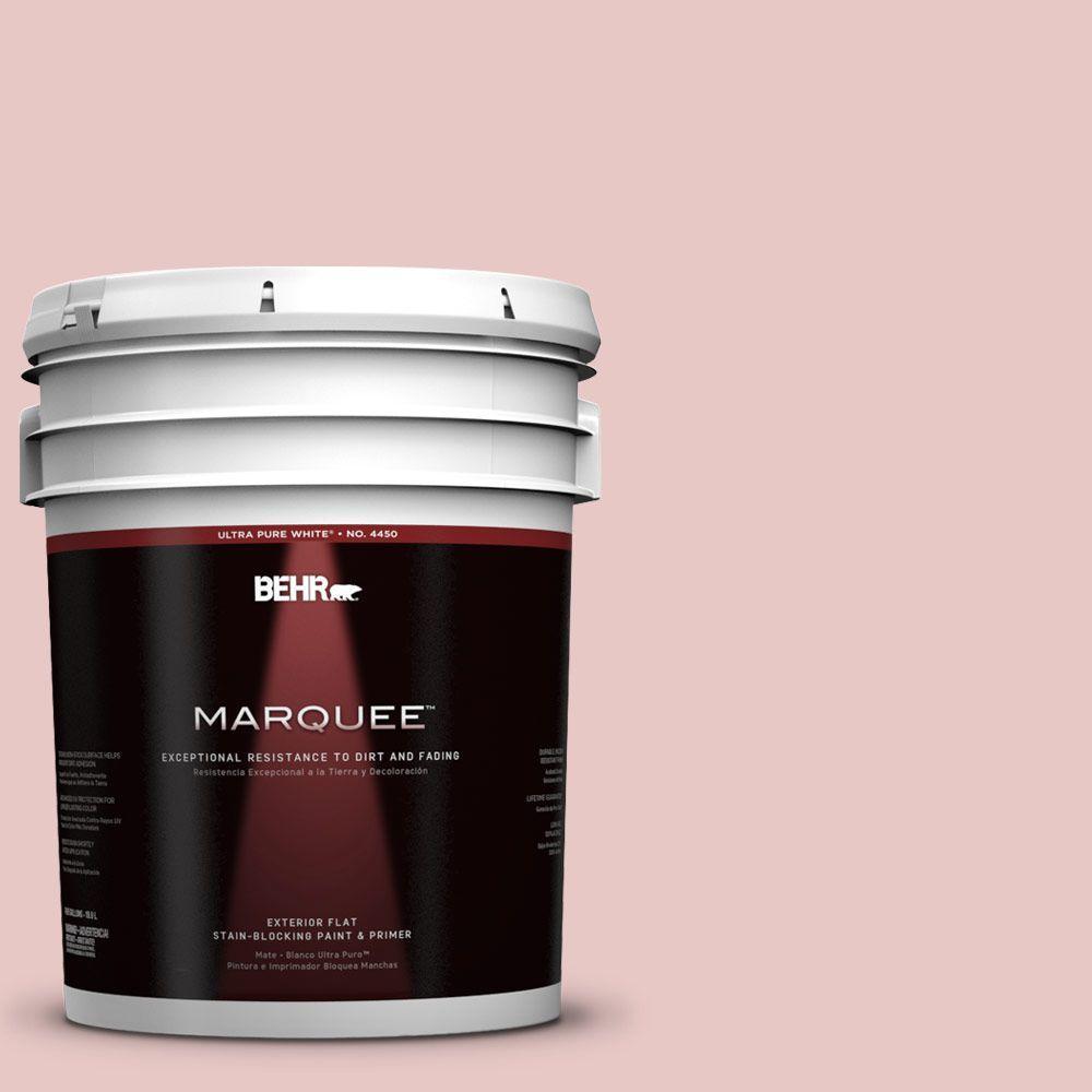 BEHR MARQUEE 5-gal. #150E-2 Kashmir Pink Flat Exterior Paint