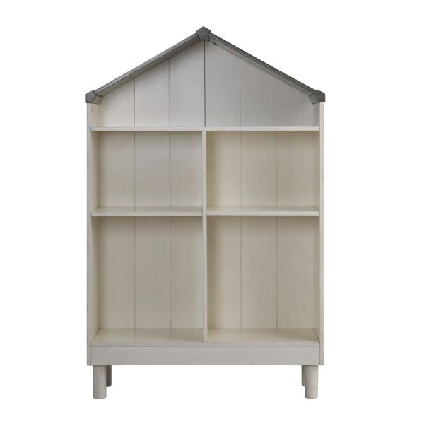 Acme Furniture Doll Cottage Weathered White and Washed Gray Bookcase 92224