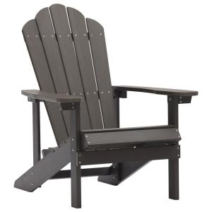 Brown Reclining Adult Size Weather Resistant Campfire Outdoor Plastic Resin Adirondack Chair