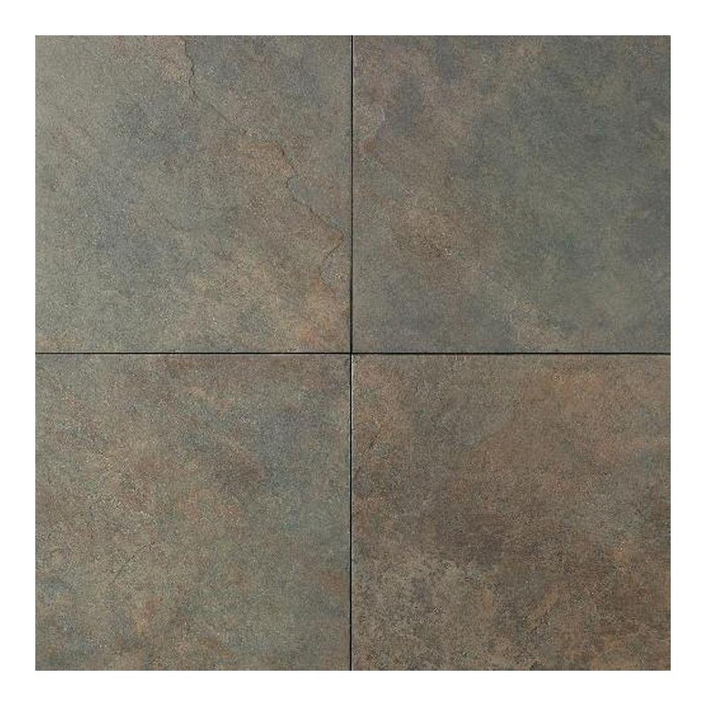 Daltile wood tile flooring the home depot continental slate brazilian green 18 in x 18 in porcelain floor dailygadgetfo Choice Image