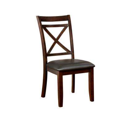Jolie Transitional Style Dark Cherry Side Chair (2-Pack)