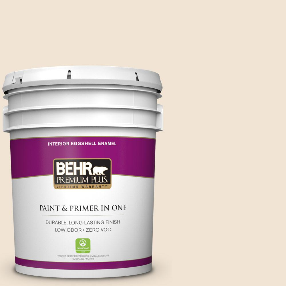 BEHR Premium Plus Home Decorators Collection 5-gal. #HDC-FL13-5 Rye Flour Eggshell Enamel Interior Paint