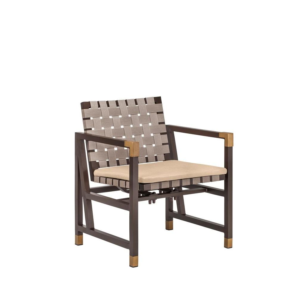 Brown jordan form patio motion dining chair in harvest 2 pack