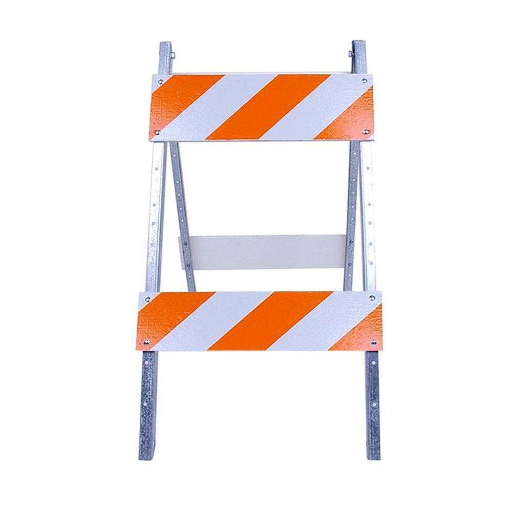 Three D Traffic Works 8/8 in  Wood and Metal EG Sheeting Type II Barricade