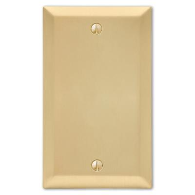 Metallic 1 Gang Blank Steel Wall Plate - Satin Brass