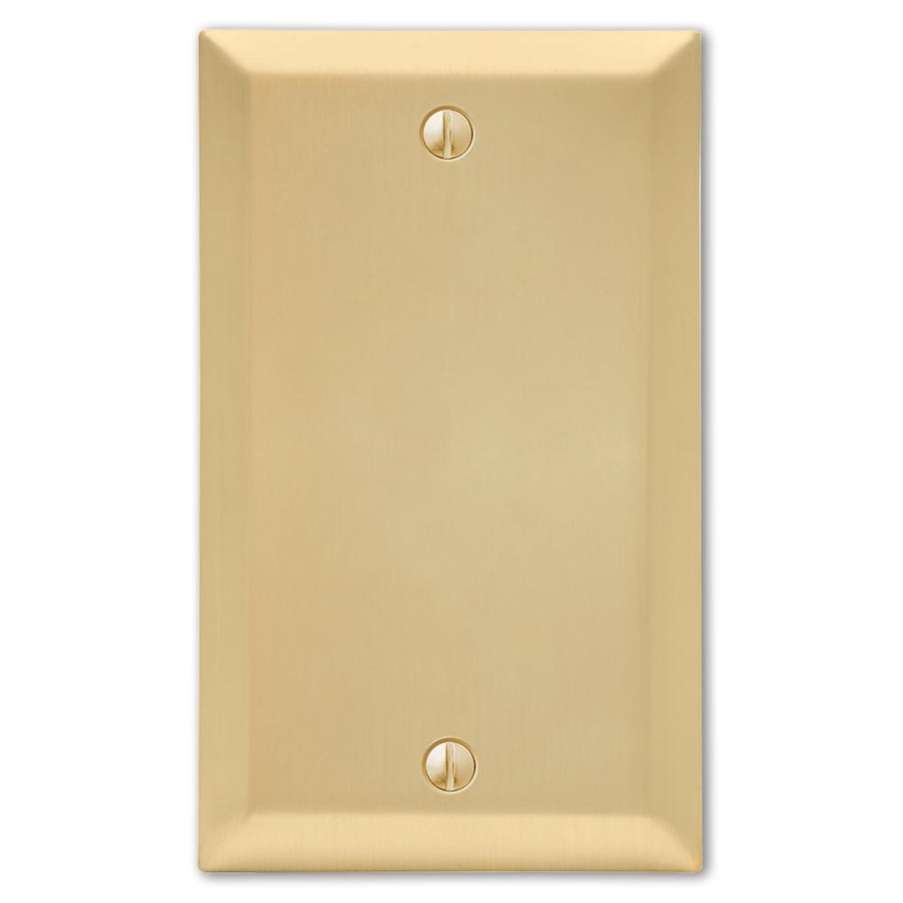 Metallic 1 Gang Blank Steel Wall Plate - Satin Brass