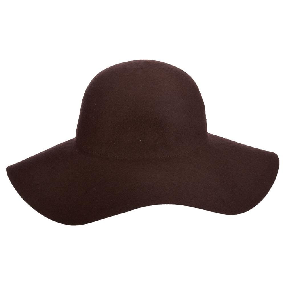 11d320b805d Scala 3-Big Brim Wool Felt Hat-LF41-CHOC - The Home Depot