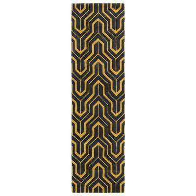 Revolution Yellow 2 ft. x 8 ft. Runner Rug