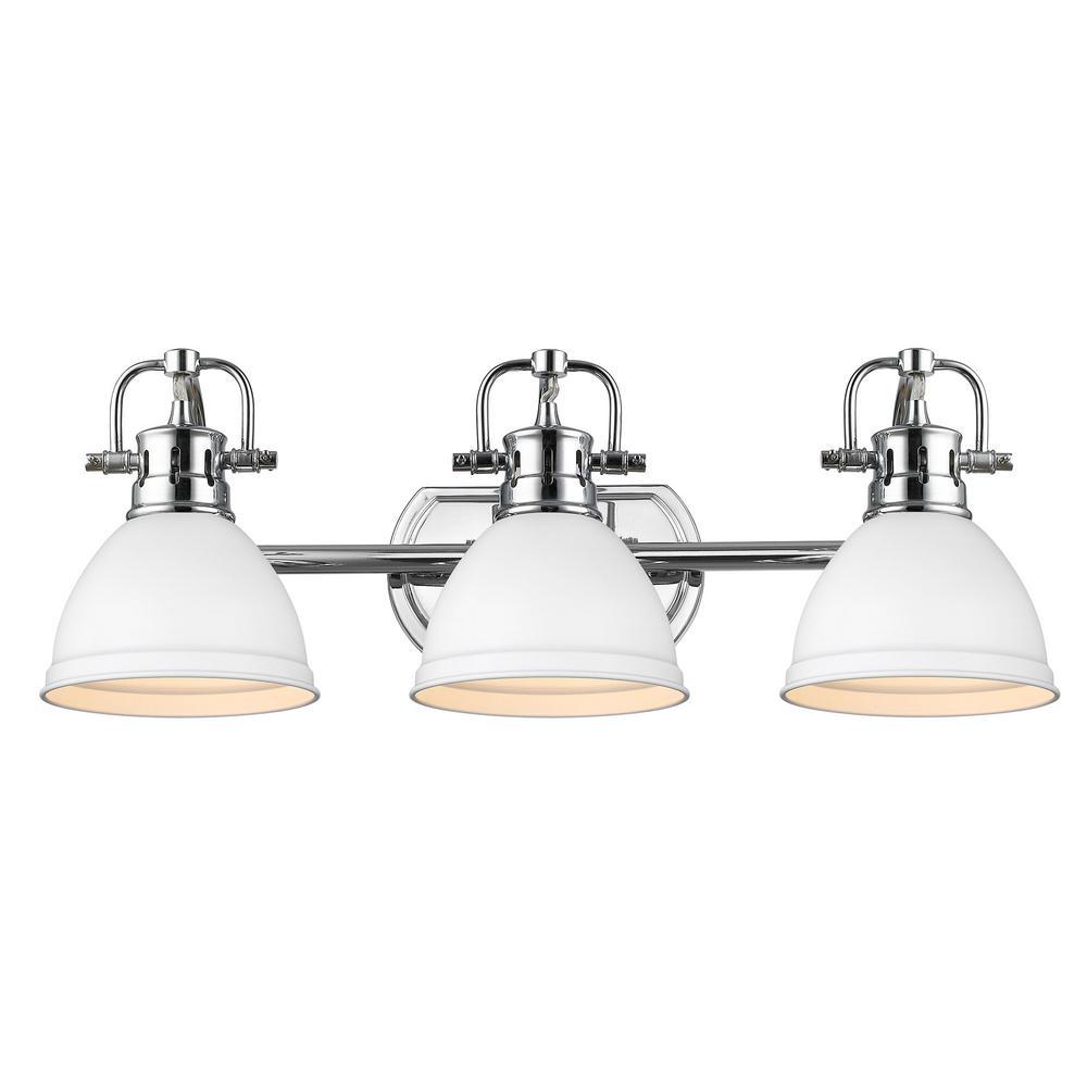 Duncan 8.125 in. 3-Light Chrome Vanity Light