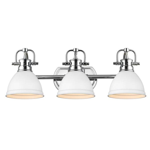 Duncan 8.125 in. 3-Light Chrome Vanity Light