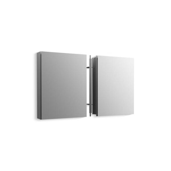 Kohler Clc 40 In W X 26 In H Recessed Or Surface Mount Medicine Cabinet In Anodized Aluminum K 99891 X2 40 The Home Depot