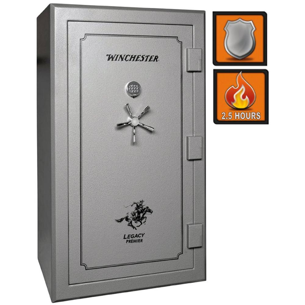 Winchester Safes Legacy Premier 53 54-Gun Granite Gloss Fire-Safe Electronic Lock