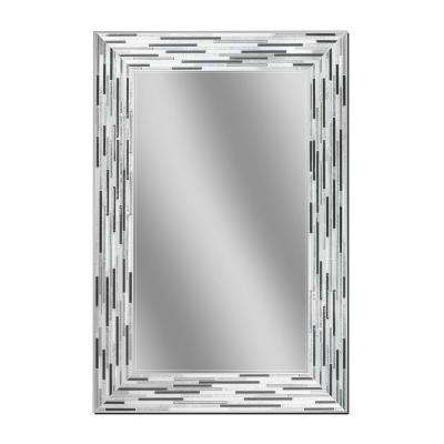 Reed Charcoal 23.5 in. x 35.5 in. Single Frameless Wall Mirror