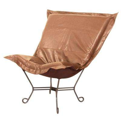 Avanti Brown Bronze Scroll Puff Chair