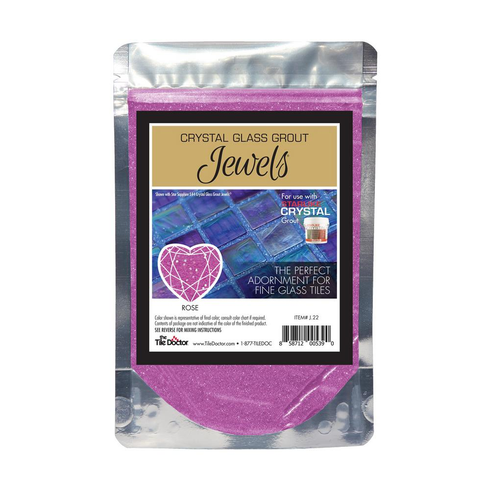 The Tile Doctor Crystal Glass Jewels Rose Additive J22 The Home Depot