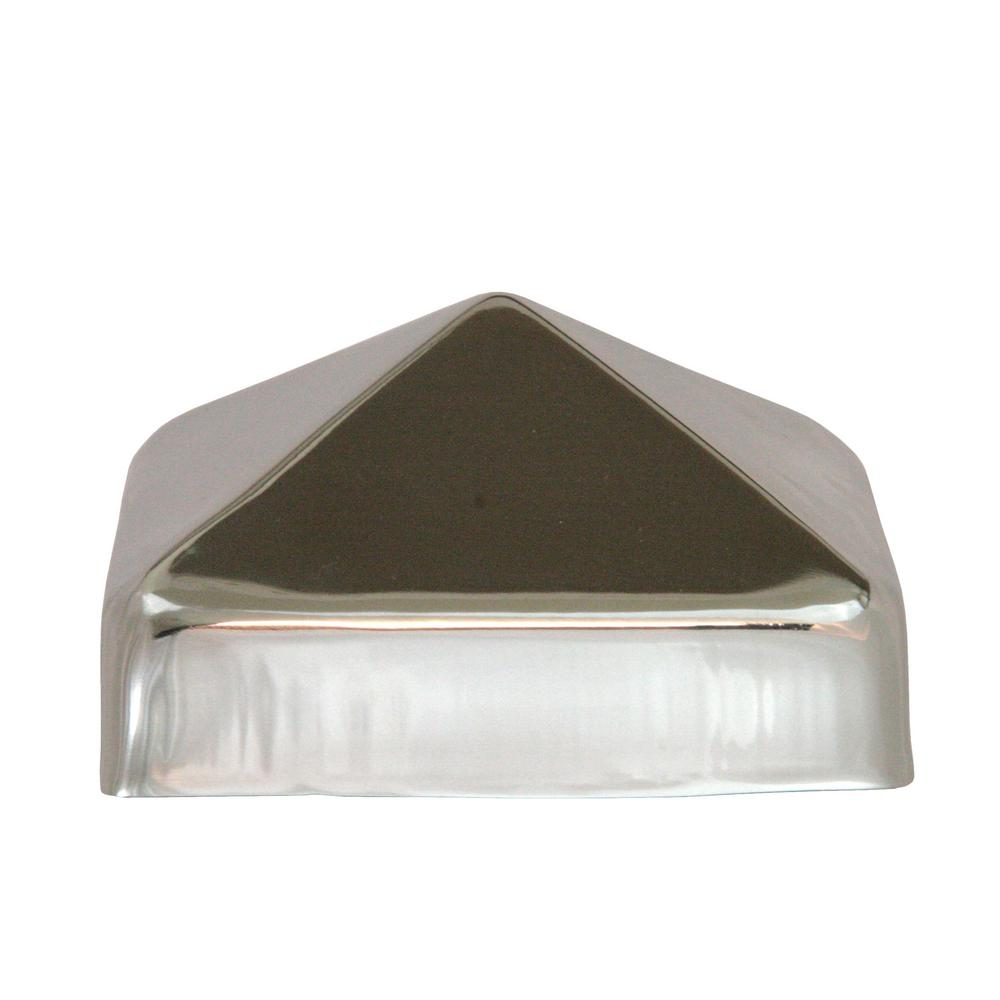 4 in. x 4 in. Stainless Steel Pyramid Slip Over Fence