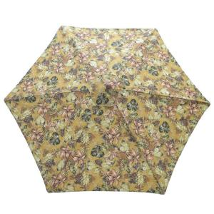 9 ft. Wood Patio Umbrella in Promo Floral by