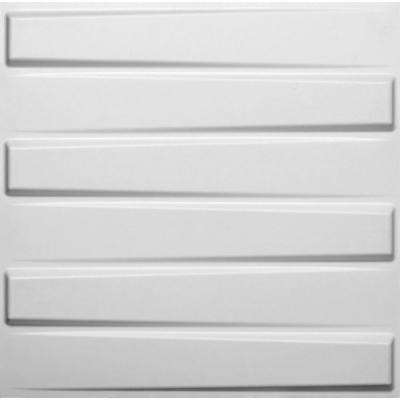 19.6 in. x 19.6 in. x 1 in. Off-White Plant Fiber Glue-On Wainscot Wall Panel (10-Pack)