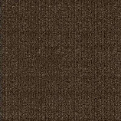 First Impressions Espresso Ribbed Texture 24 in. x 24 in. Carpet Tile (15 Tiles/Case)