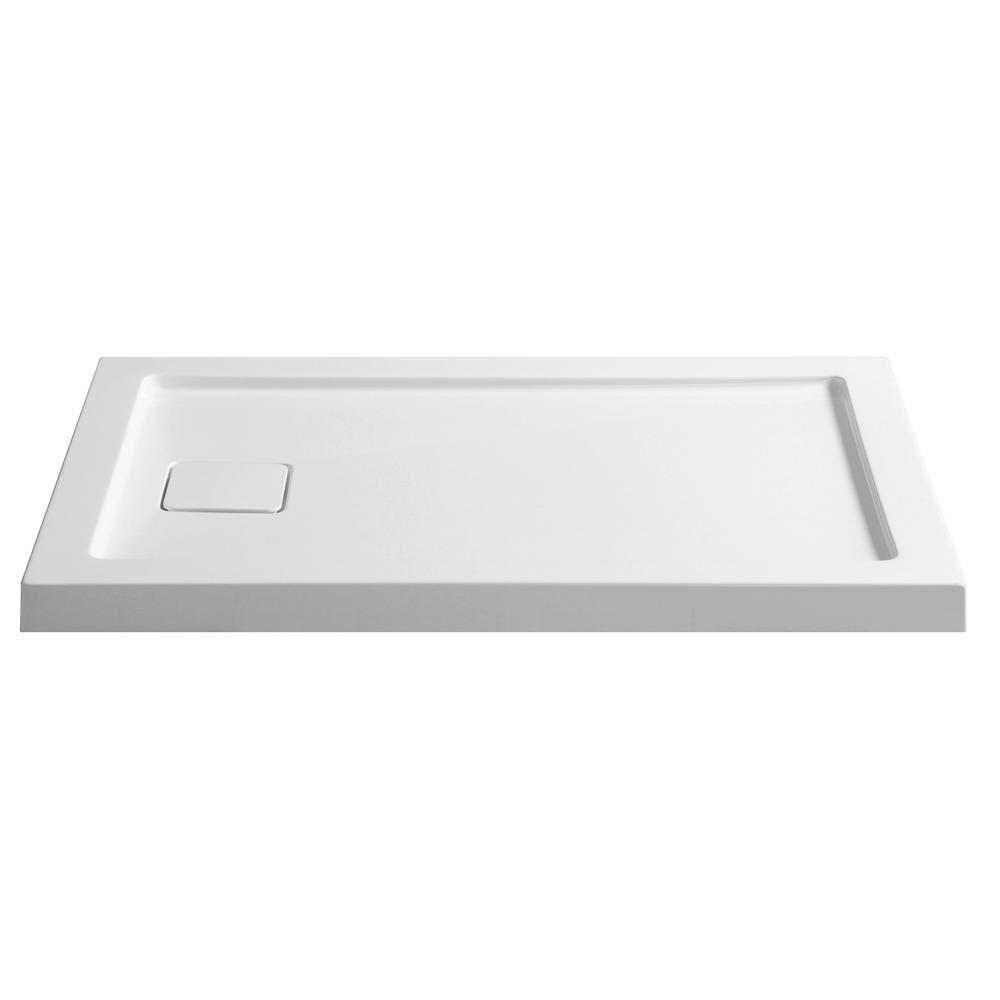 ANZZI Forum Series 48 in. x 32 in. Single Threshold Shower Base in White
