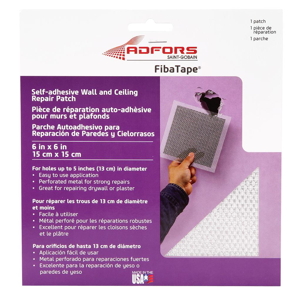 6 in. x 6 in. Self-Adhesive Wall and Ceiling Repair Patch