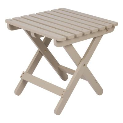 Adirondack Taupe Gray Square Wood Folding Table