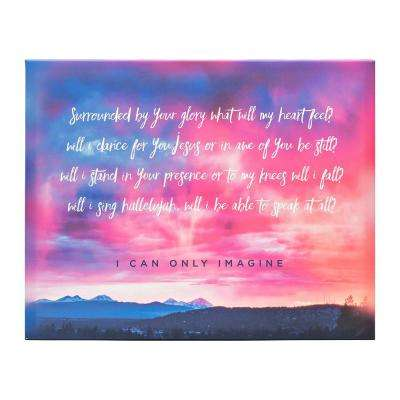 I Can Only Imagine Collection, I Can Only Imagine Sunset by Carpentree Printed Canvas Wall Art