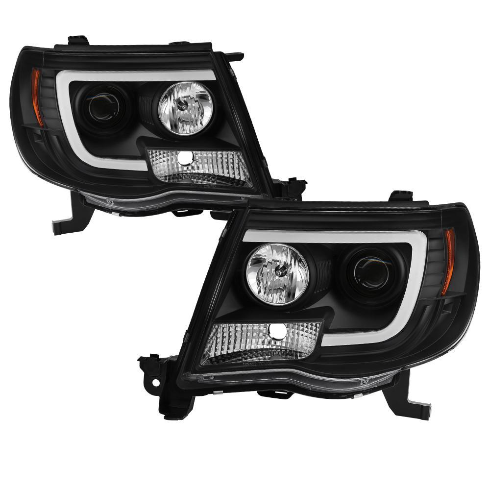 Spyder Auto Toyota Tacoma 05-11 Version 2 Projector Headlights - Light Bar  DRL - Black