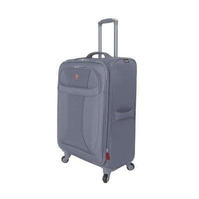 24 in. Lightweight Spinner Suitcase in Grey