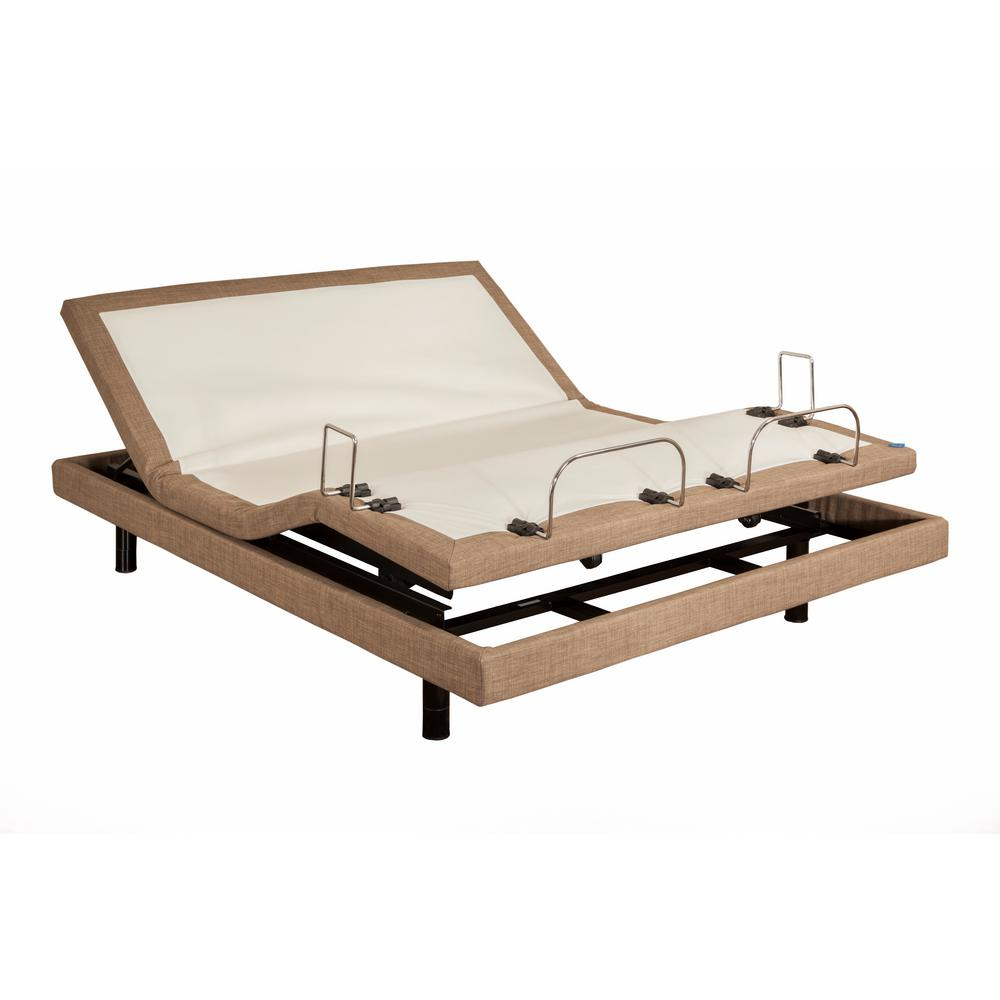Blissful Nights Queen Adjustable Bed Frame Brown
