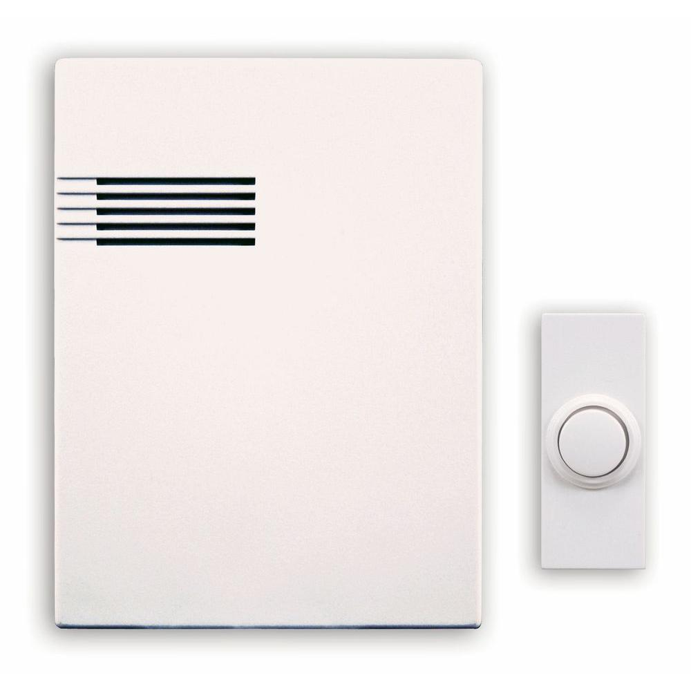 Heath Zenith Wireless Battery Operated Door Chime Dl 6164 The Home Wiring Chimes In Parallel