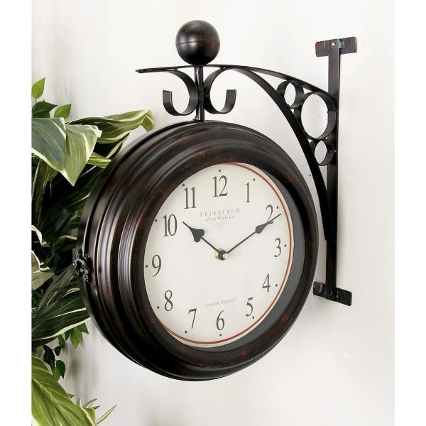 Super 16 In X 14 In 2 Sided Brown And Tan Old World Edinburgh Wall Clock Download Free Architecture Designs Embacsunscenecom