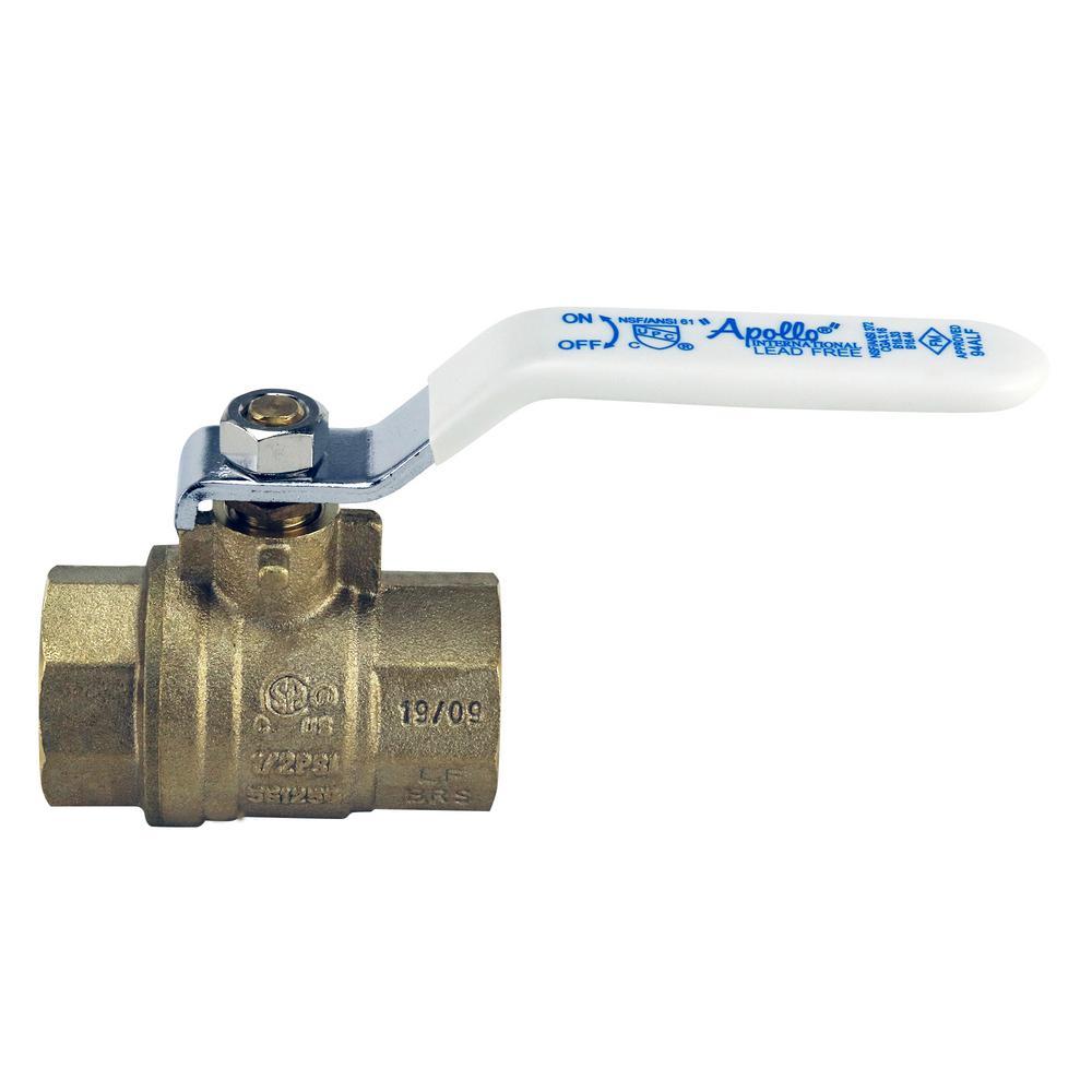Lead Free Water Shut Off Valve AB 1 Inch X 1 Inch PEX Ball Valve Full Port Water Stop Shut Off 10 Pack