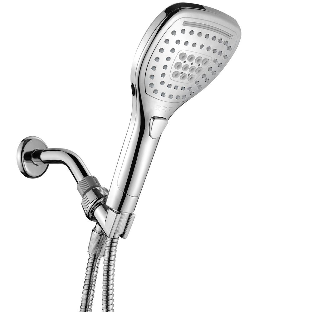 HotelSpa Hotel Spa 3-Setting Hand Shower with Push Control in Chrome, Grey