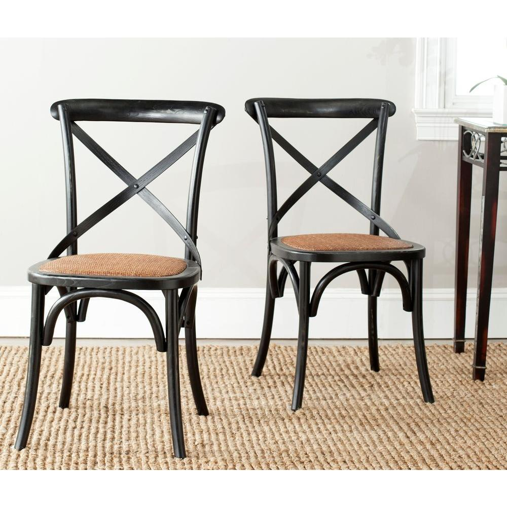 x back dining chairs Safavieh Franklin Hickory Oak X Back Dining Chair (Set of 2  x back dining chairs