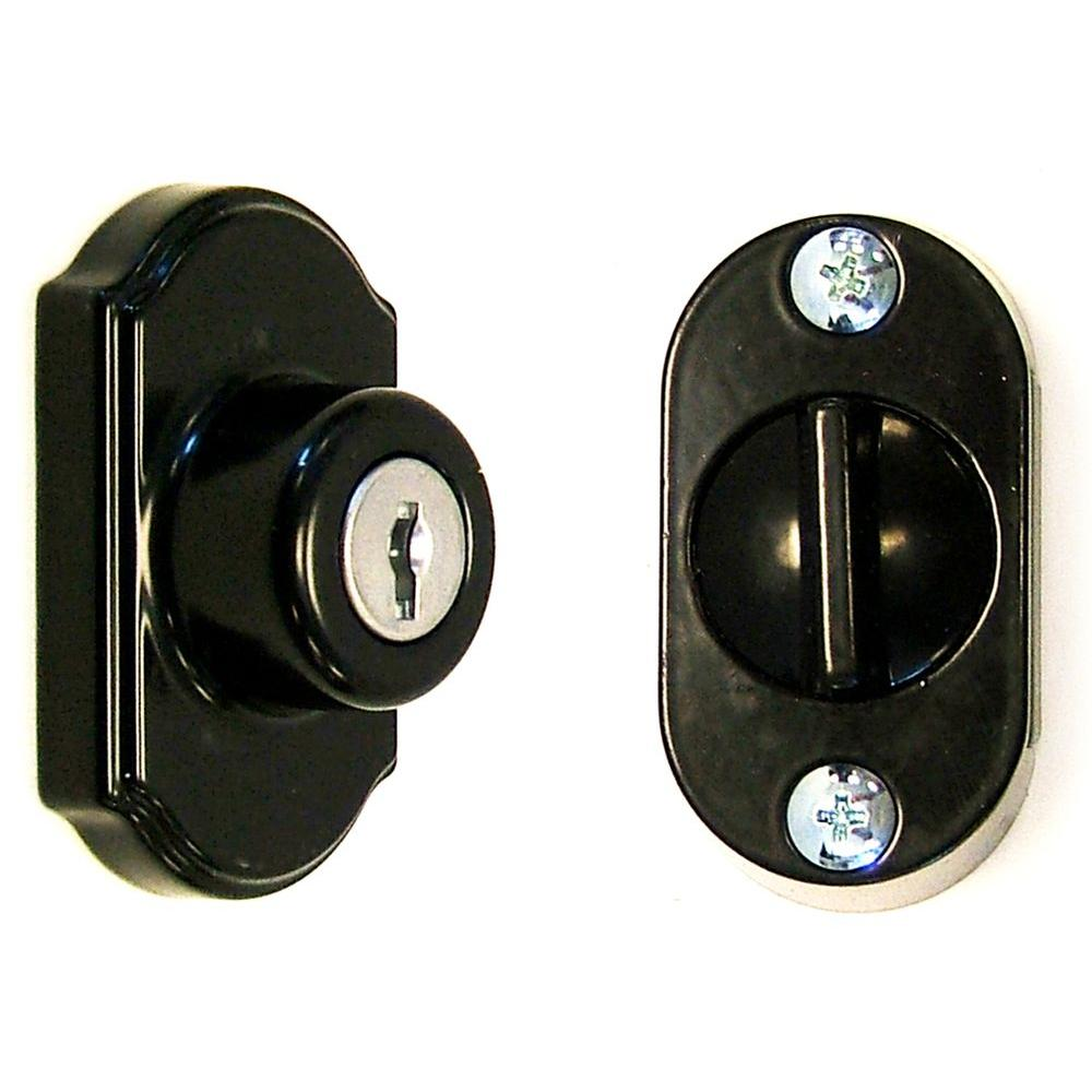 Ideal Security Keyed Deadbolt Painted In Black Sk703bl The Home Depot