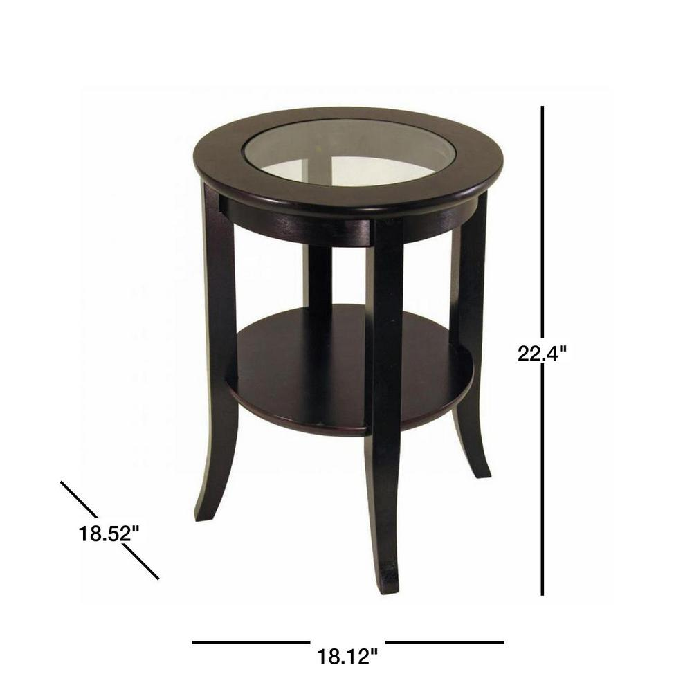 Round End Table Set of 2 Coffee Table with Storage Area Side Table with Under Storage Shelf Room D/écor End Table Espresso Finish Cocktail Table Nightstand Set of 2 End Tables with Shelves
