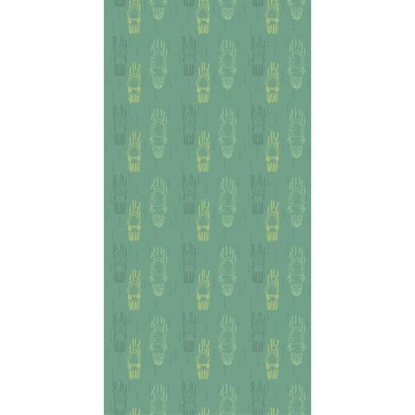 CGSignLab Cuttlefish-Green on Green by Belly Acres Farm Studio Removable