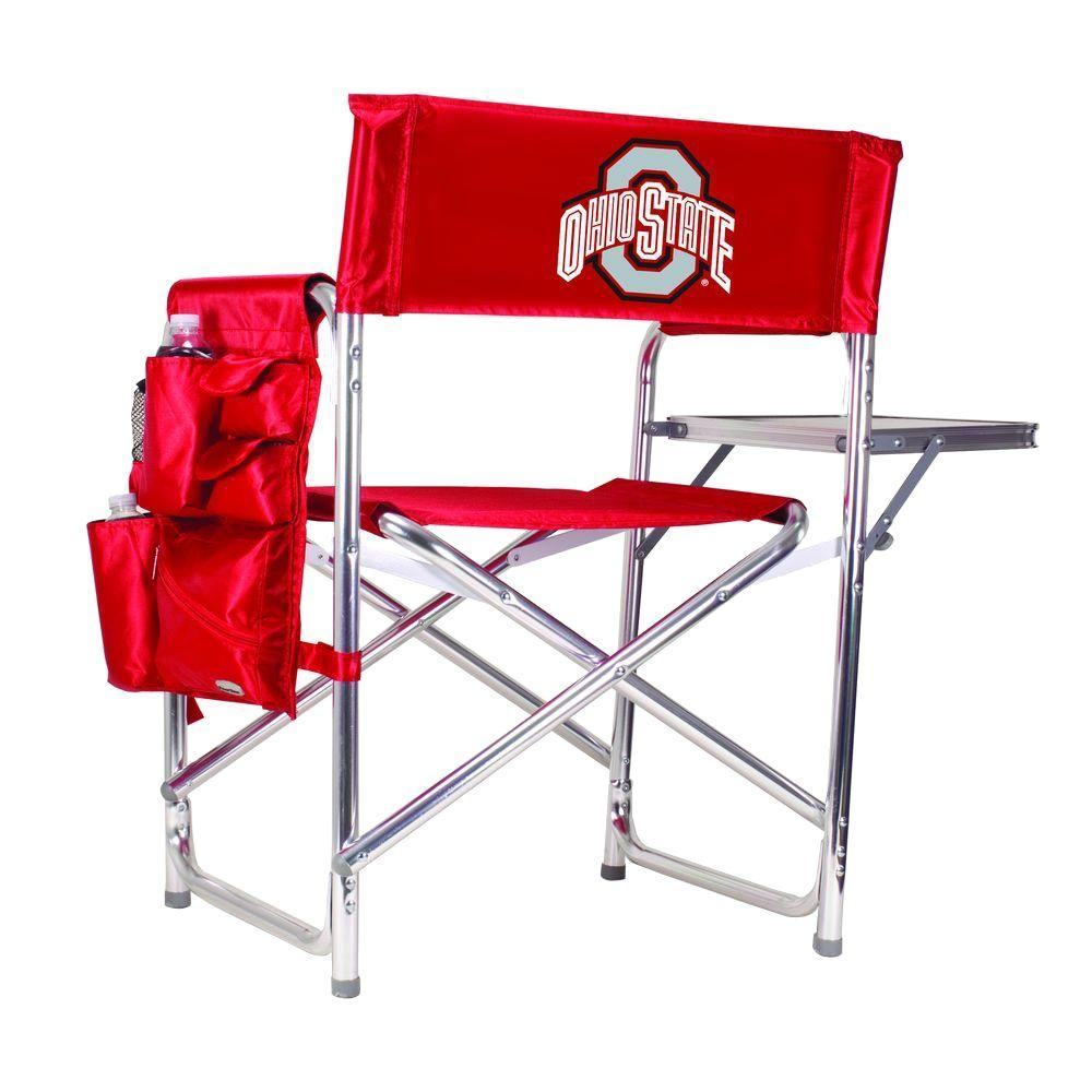 Ohio State University Red Patio Sports Chair with Digital Logo
