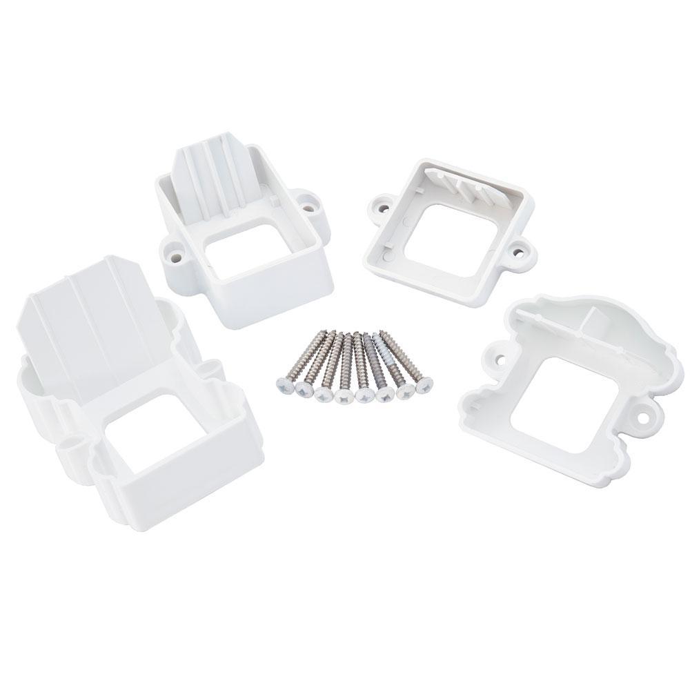 ArmorGuard Classic White Plastic Stair Rail Hardware Kit