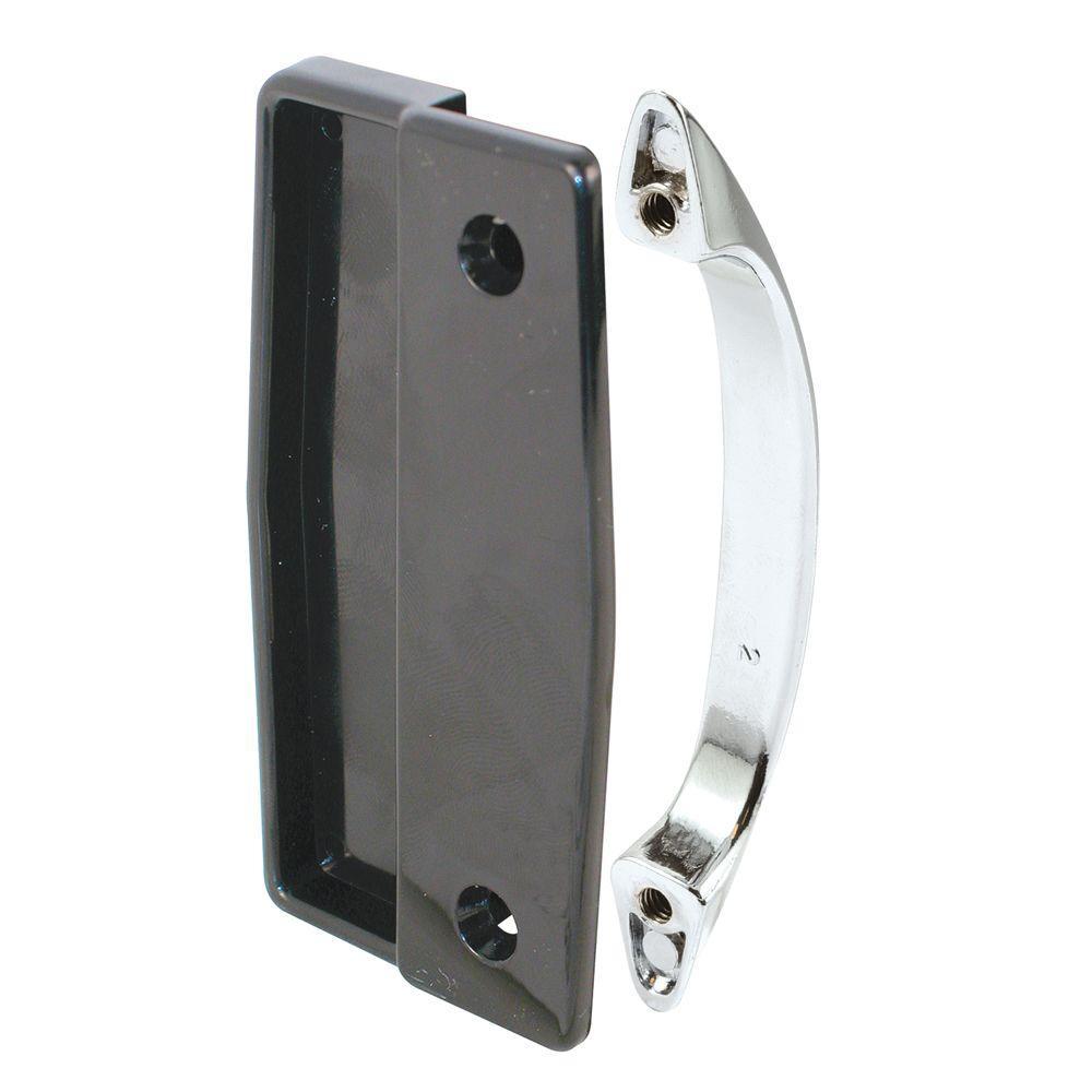 Prime-Line Sliding Screen Door Pulls, Black Plastic/Chrome Diecast