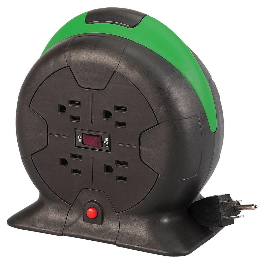 retractable extension cord designcord 10 ft 16 3 auto rewind extension cord reel 13023