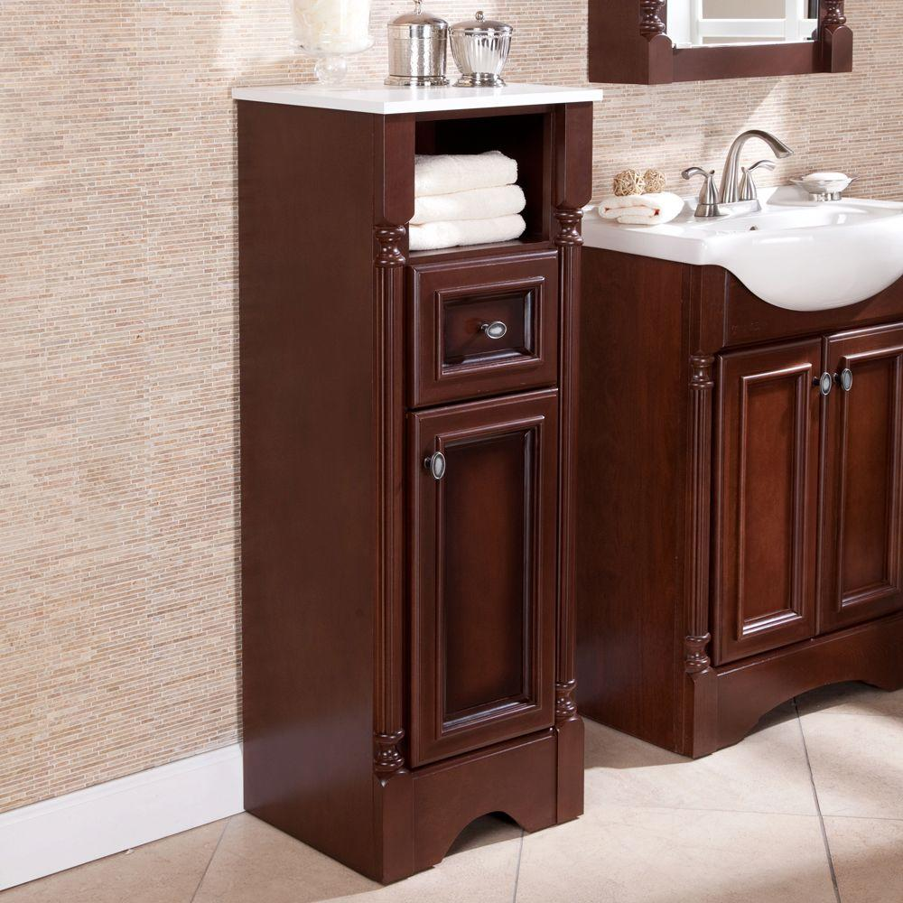 St. Paul Valencia 16-1/2 In. W X 44-1/2 In. H X 14-15/25 In. D Bathroom Linen Storage Cabinet In