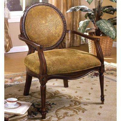 Hamilton Dark Oak Fabric Arm Chair
