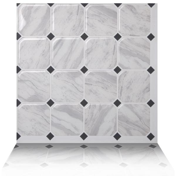 Tic Tac Tiles Marmo White 10 in. W x 10 in.