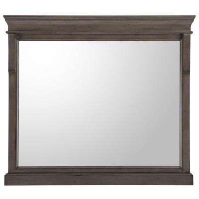 Naples 36 in. x 32 in. Wall Mirror in Distressed Grey