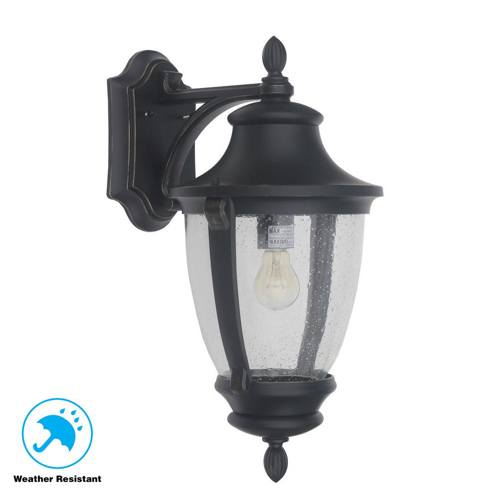 Home Lighting Collections: Home Decorators Collection Wilkerson 1-Light Black Outdoor
