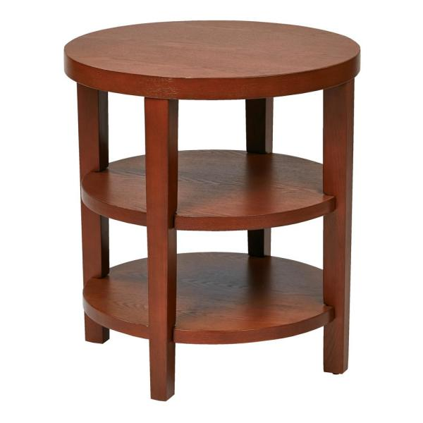 Office Star Products Merge 20 in. Cherry Round End Table MRG09-CHY