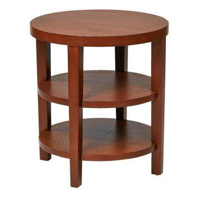 Merge 20 in. Cherry Round End Table