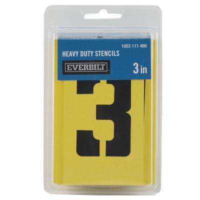 3 in. Cardboard Letters Numbers and Symbols Stencil Set
